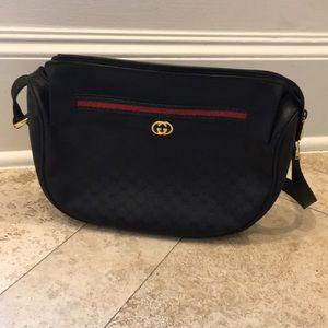 Vintage Gucci Saddle bag. Black